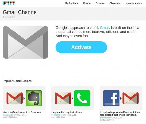 ifttt Gmail