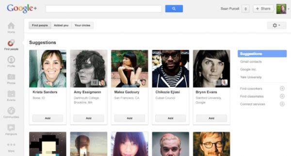 Google Plus circulos