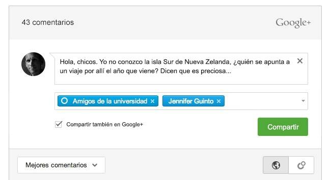 google plus comentarios