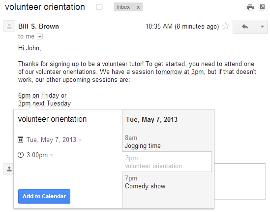 calendar gmail