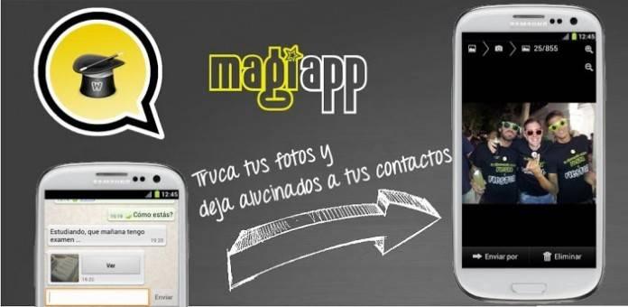Magiapp; para hacer divertidos montajes con tus fotos en Whatsapp