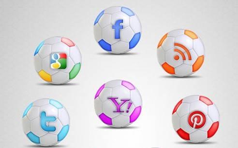 iconos redes sociales tema futbol