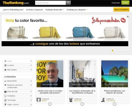 theranking portal de listados