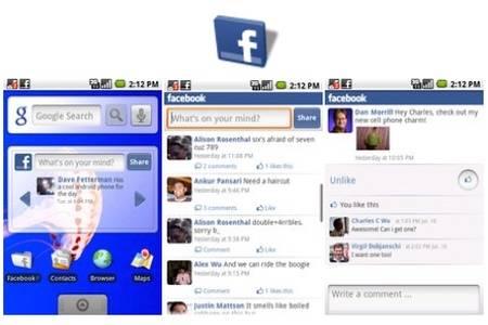 Facebook para Android interfaz