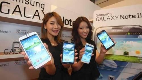 Las chicas de la presentación del Samsung Galaxy Note 3