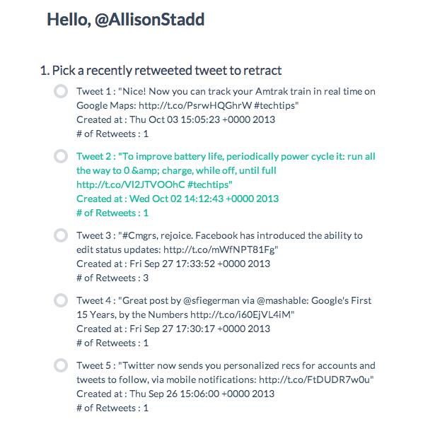 Retwact una herramienta para corregir los tweets en Twitter