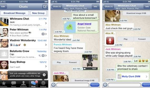 WhatsApp publicidad conversaciones 2