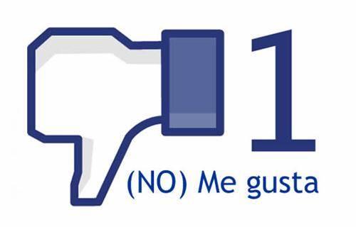 Facebook no me gusta 1