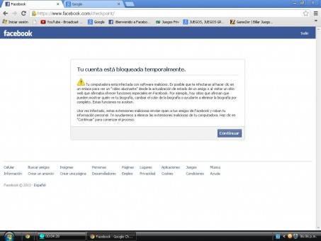 Facebook cuenta bloqueada 2