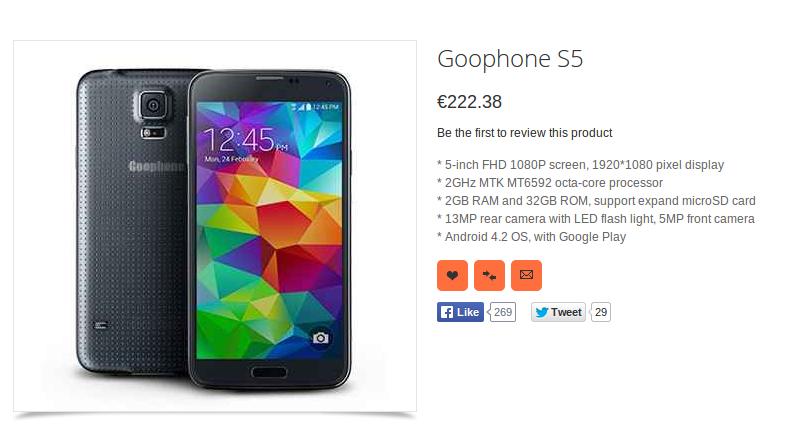 Goophone S5 1
