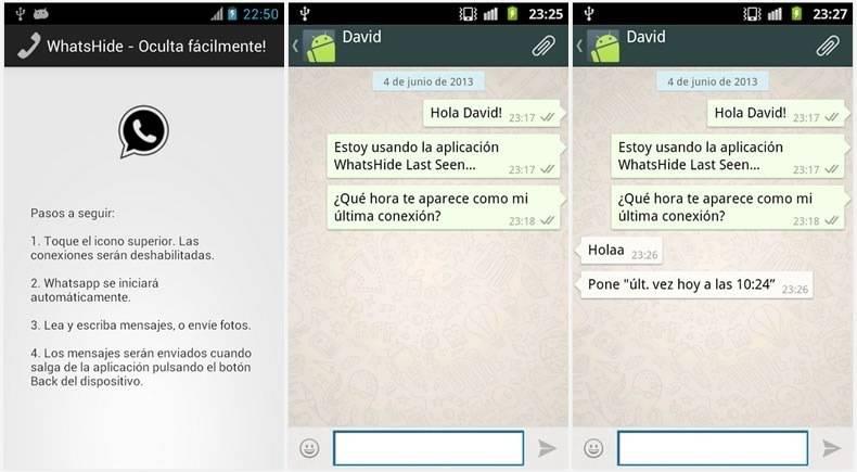 WhatsApp Android hora de conexión 2