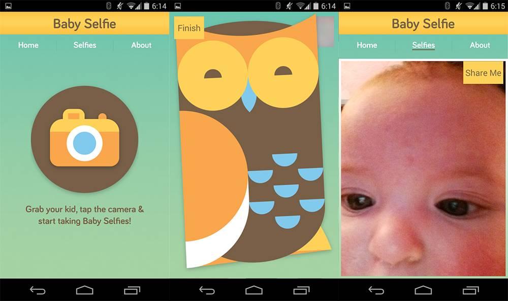 Baby Selfie app 2