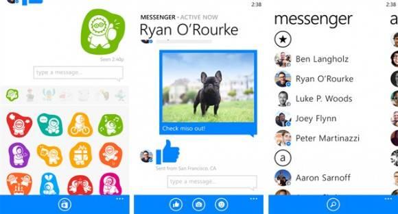 Facebook Messenger Windows Phone 2