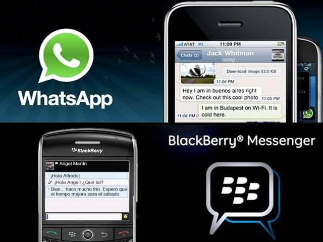BlackBerry Messenger WhatsApp 1
