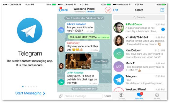 Facebook Telegram 2