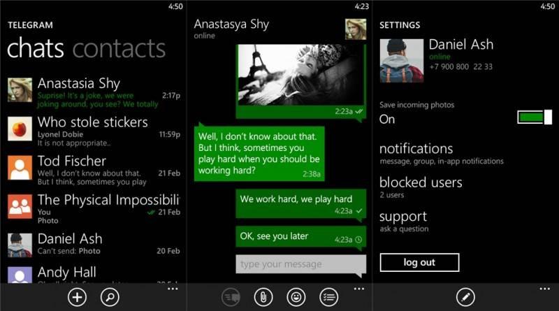 Telegram Windows Phone 2