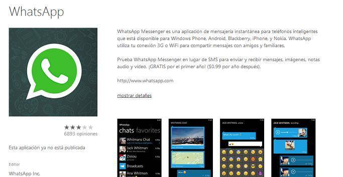 WhatsApp Windows Phone 2