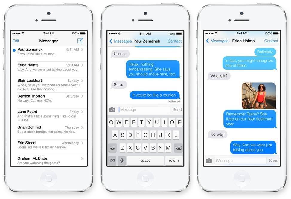iMessage iOS 8 2