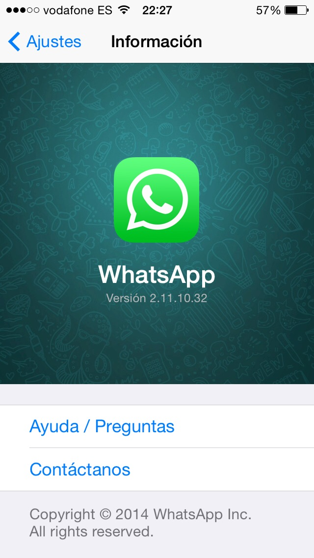 WhatsApp iOS 8 iPhone.