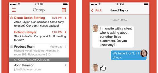 Cotap, una app de mensajería segura para empresas