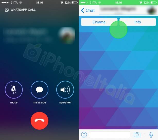 iphone llamadas whatsapp