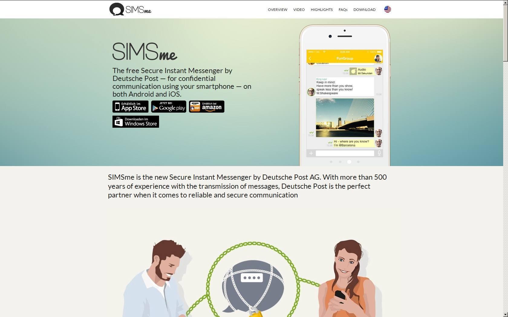 SIMSme para Windows Phone 1
