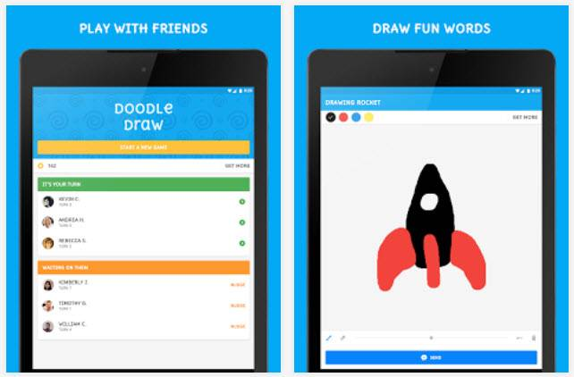 doodle draw juego facebook messenger