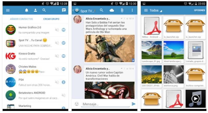 app de mensajería spotbros
