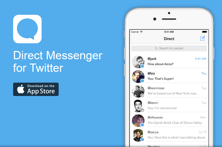 direct messenger para twitter
