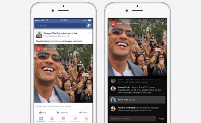 live para facebook mentions