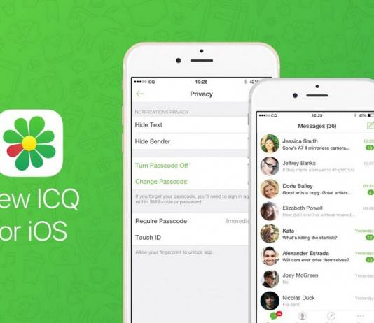 app de mensajería icq