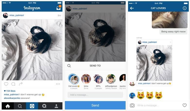 novedades en instagram direct