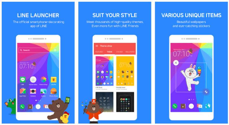 line launcher para android