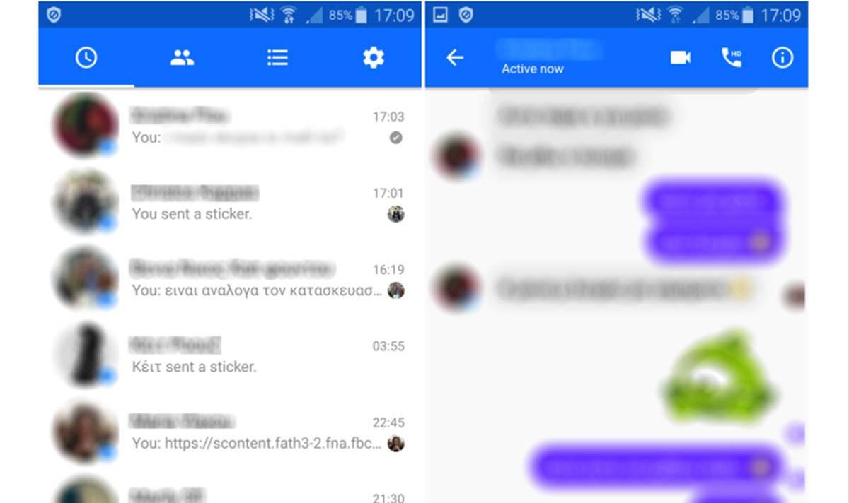 cuentas en facebook messenger