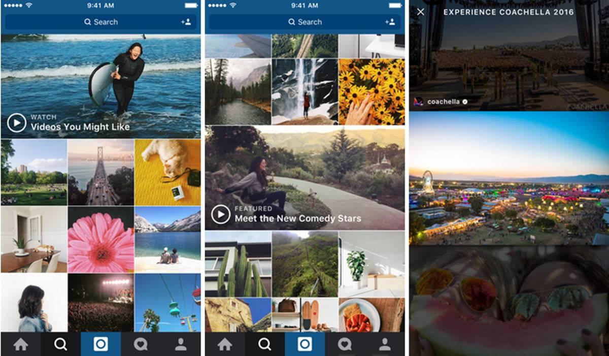 canales de vídeo de instagram