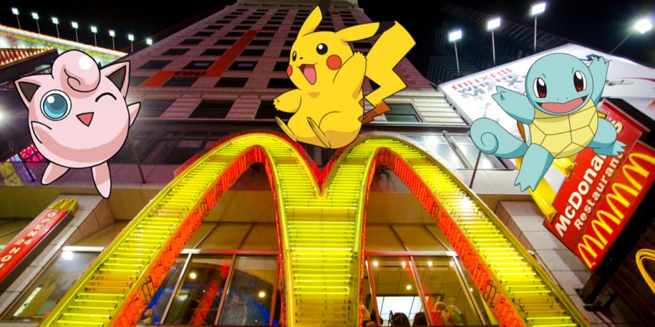 pokémon go ha llegado a japón - mcdonalds