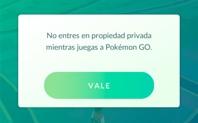 pokemon go no entre en propiedad privada mientras juegas