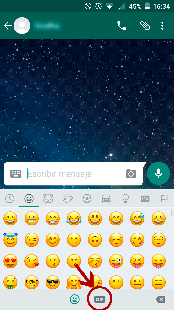 WhatsApp con Giphy