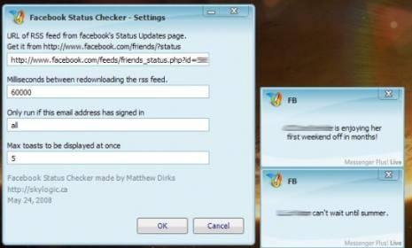 Facebook Status Checker, script para Messenger Plus! Live